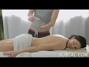 Massage with glad ending