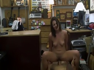 Customers wife railed by nasty pawn guy in the pawnshop