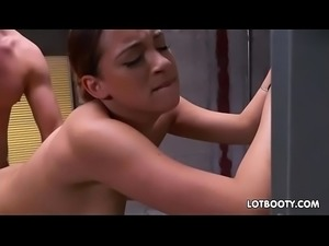 Perfect ebony teen with big ass Mariah Banks gets fucked