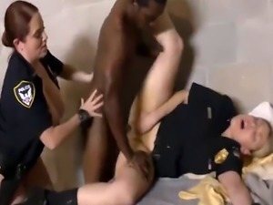 Cops Maggie And Joslyn Abuse Black Pimp In Threesome