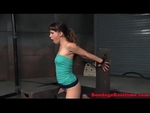 Deepthroating submissive tiedup in bdsm