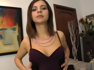 Russian brunettes mouth received unforgettable feelings