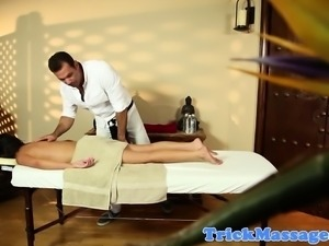 Massage beauty facefucked by her masseur
