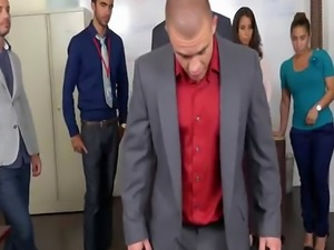 Office stud sucks big dong and banged on swing