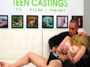 Hot Teen Fingered and Brutally Fucked