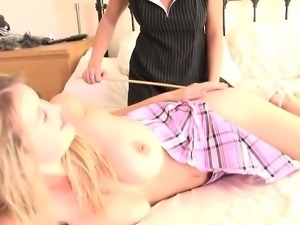 Naughty teacher punishes her slutty student
