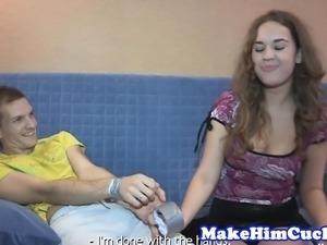 Busty euro cuckolds her cheating boyfriend