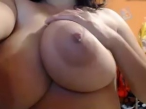 Huge milk filled breasts played with