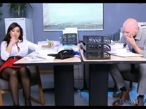 Hot Brunette Secretary Needs a Good Pounding at Work