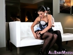 Anally fisted masseuse