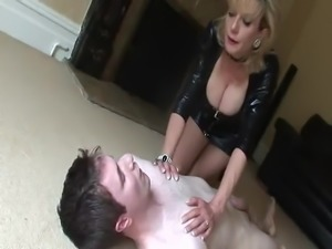 British MILF Tortures Young Man