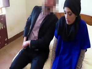Sexy Arab babe enjoys hardcore doggystyle action