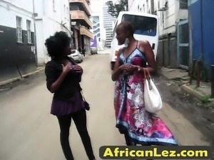 African lesbians having a great fun in the bathroom