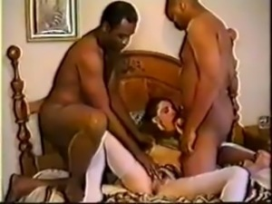 Nasty Brunette Wife BBC Cuckold Fun