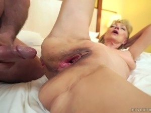Szuzanne hasn't lost her sex drive and she wants that juicy cock
