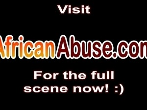 African sluts caught in a hardcore outdoor group sex