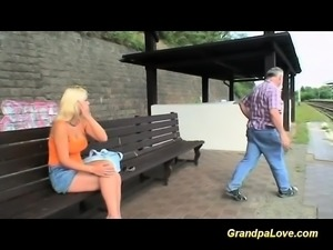 grandpa in love with busty teen