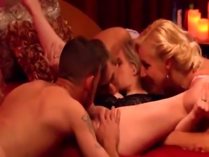 Amateur swingers having sexy party in reality show