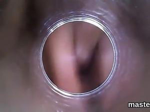 Naughty czech sweetie spreads her juicy vulva to the bizarre