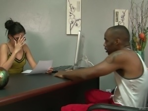 Dude trades sex for job opportunity and Nikki Daniels is eager to fuck