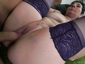 Short haired BBW slut takes dick in her twat in a variety of positions