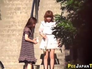 Kinky japan teens peeing
