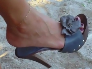 Candid Hot Mule High Heels