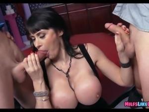 Huge Tit MILF finds Big Dicks at the club