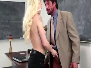 Blonde Teen Riding Teacher Big Dick On Desk