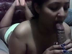 Jenny giving a blowjob in pov