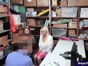 Busty shoplifter Skylar Snow fucked hard by horny LP officer