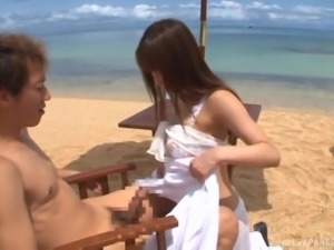Great beach sex session with insatiable Asian Ayami Shunka