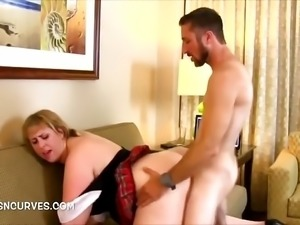Busty Mom fucked by her stepson