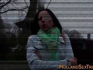 Dutch hooker licks cunt