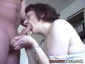 Erotic Granny Blowjob