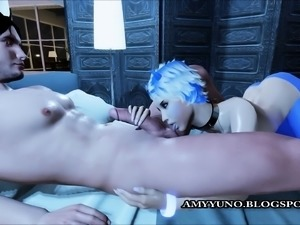 Blue Submissive Ice Girl Pounded In 3D Adult Dating World!