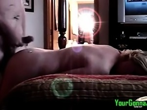 Blonde amateur mature wife and hubby fuck homemade