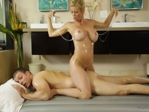 amazing alexis sucks and fucks an oiled cock