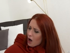 This redhead loves to pee on her man after they have sex