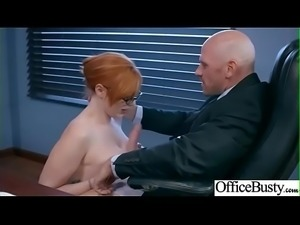 Office Sex Action With Sluty Horny Big Tits Girl (Lauren Phillips) clip-13