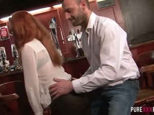 Sex hungry Ella Hughes wants to have some naughty fun at the pub after work