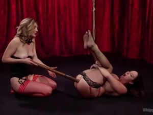 Christina loves being tied up and penetrated, to which Mona gladly obliges...