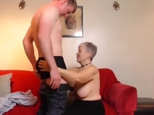 Lusty granny Savana has silver hair, but she takes the gold prize when it...
