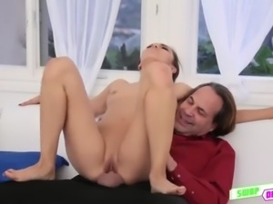 Sweet lovely Audrey Royal having a thick cock