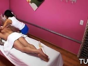 Ravishing lady organizes sex during massage session