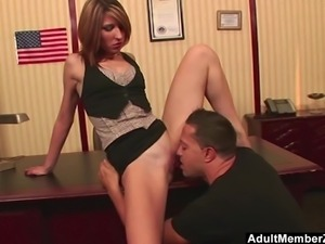 Huge dick makes her scream with pleas