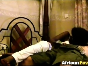 Interracial POV fucking with hot African