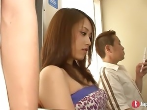Gorgeous Japanese Teen Public Transport Gangbang