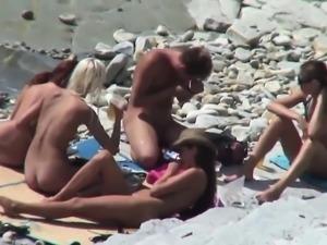 Voyeuring Happy Nude Beach scenes