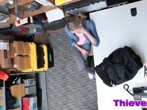 Teen shoplifter gets screwed from behind